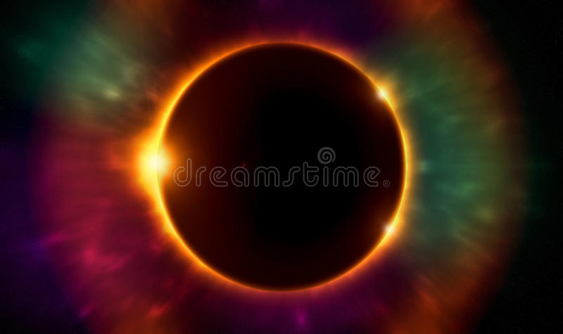 Solar eclipse vector illustration