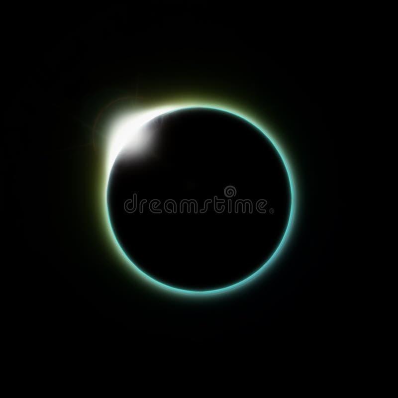 Solar eclipse moon vector illustration
