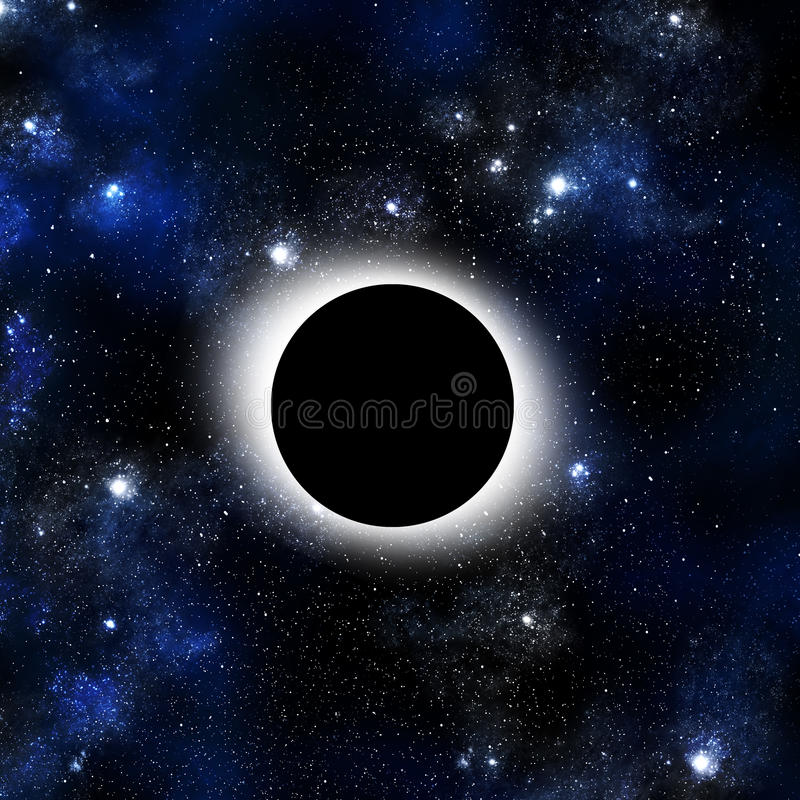 Solar Eclipse with Orion background royalty free illustration