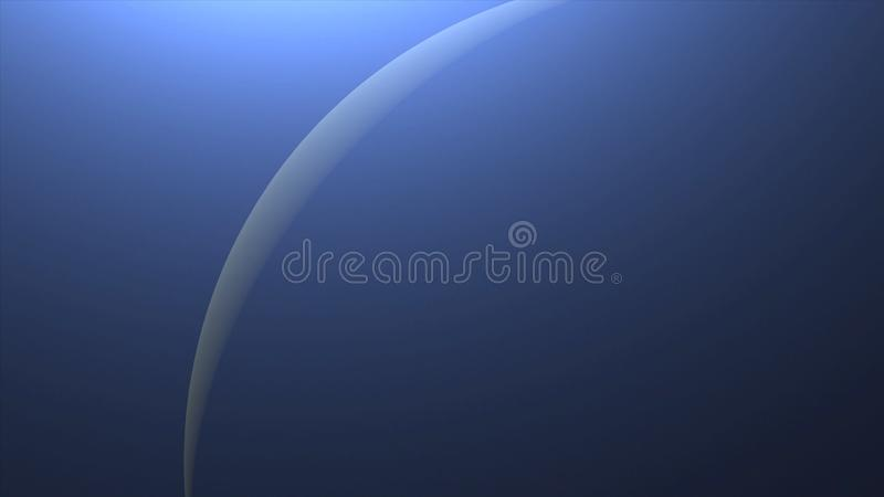 Solar Eclipse over Neptune Planet. Big, blue planet Neptune and rising sun over. Realistic High quality 4K animation, silhouette f. Ull mysterious planet royalty free stock photos