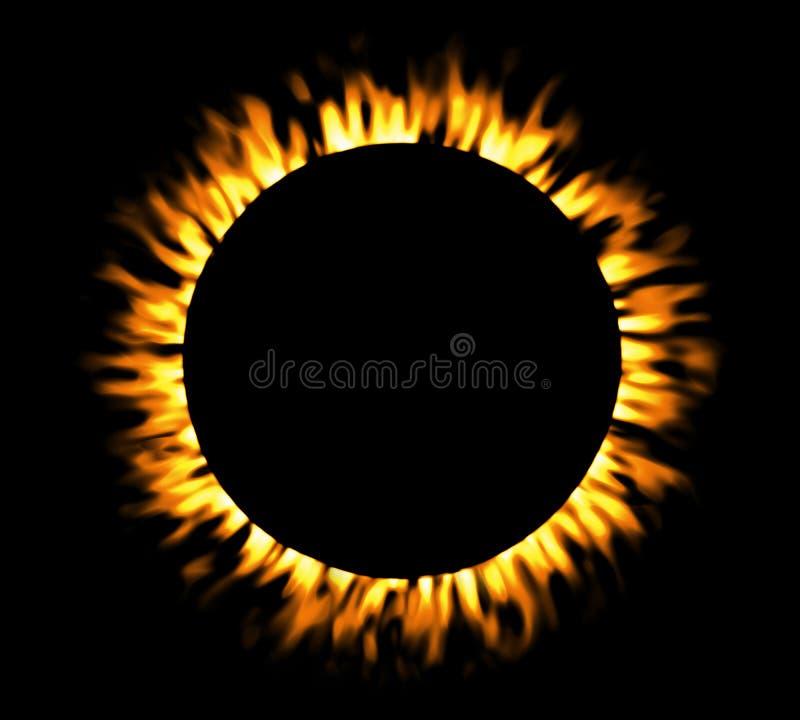 Free Solar Eclipse, Round Fire Frame. Stock Photo - 75408060