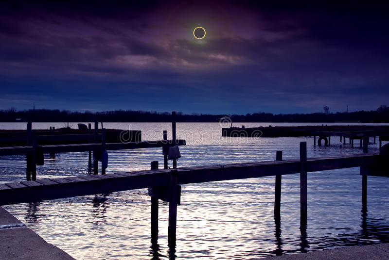 Download Solar eclipse scene stock photo. Image of astronomical - 28308524