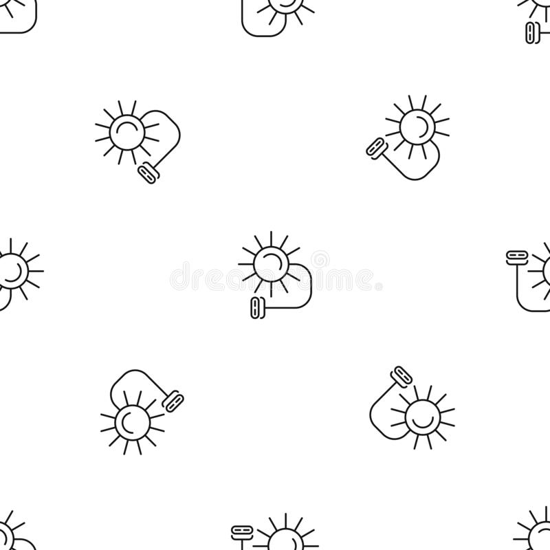 Solar electric pattern seamless vector royalty free illustration