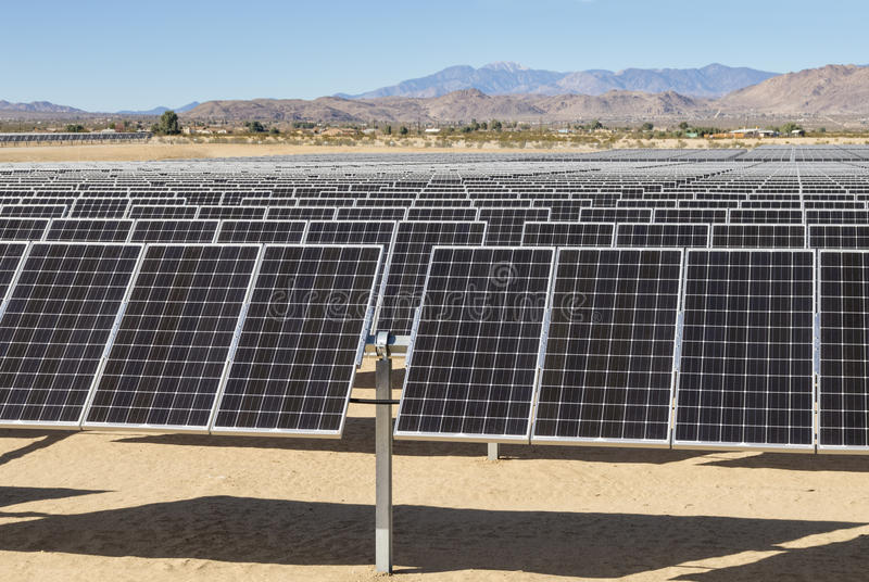 Solar Electric Power Plant royalty free stock images