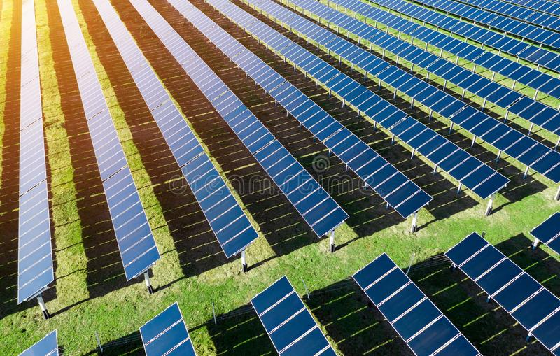 Solar energy power plant stock photography