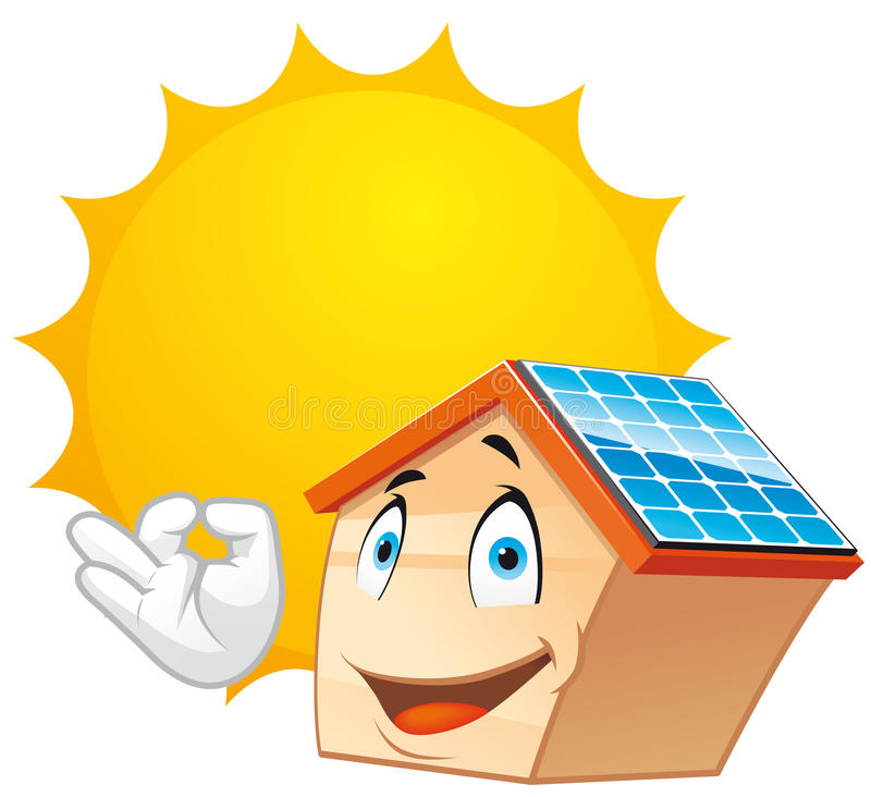 Download Solar energy stock illustration. Image of residential - 20883412