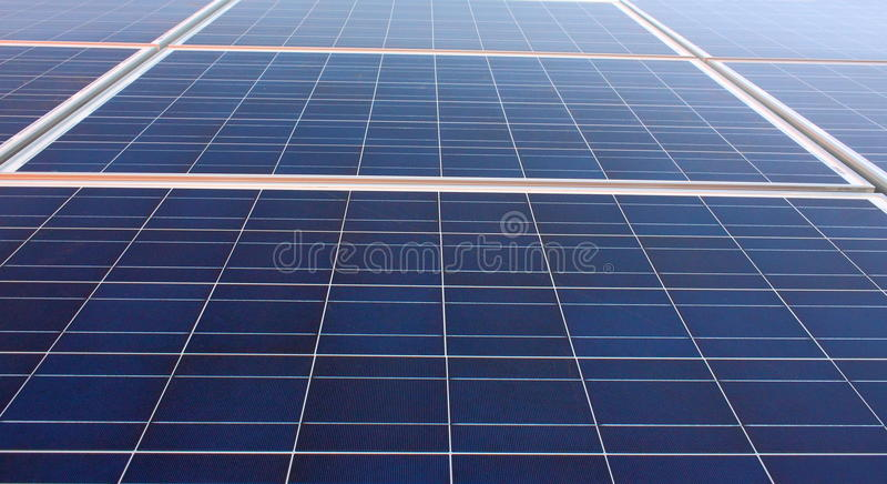 Solar energy. Solar panels closeup shot-ecological energy stock photo