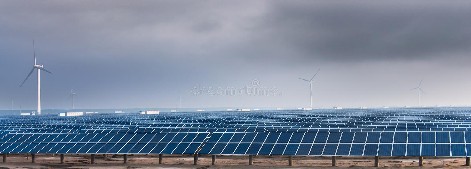 The solar energy. China south yellow sea has a great wind resources and solar energy resources, there has become an important source of power royalty free stock image