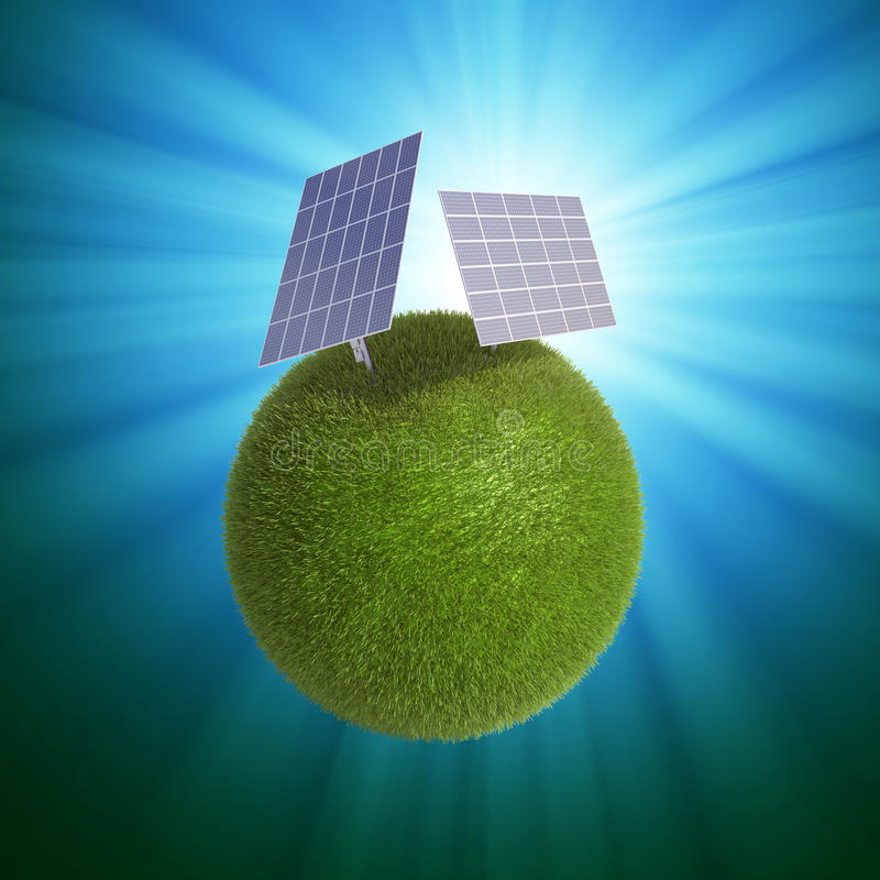 Solar energy concept royalty free illustration