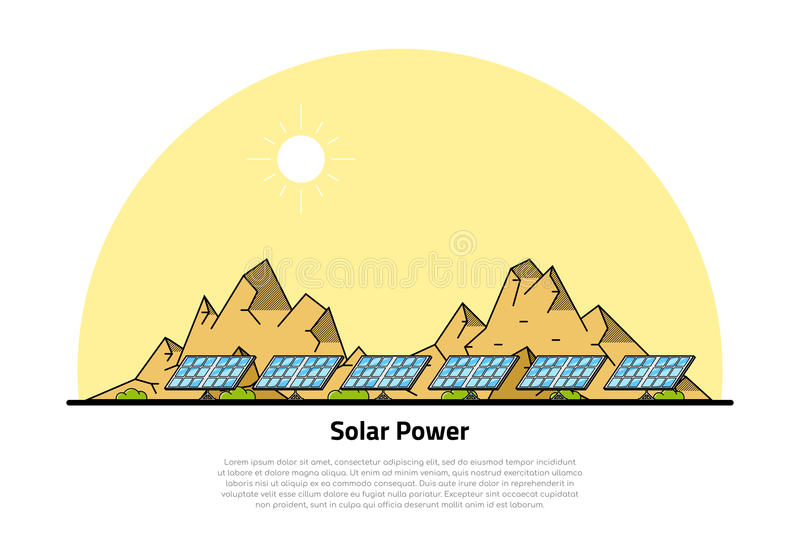 Solar energy concept royalty free illustration