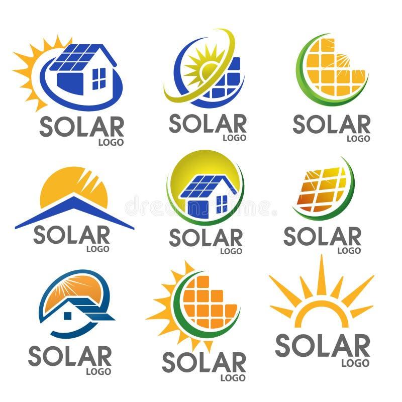Free Solar Energy Logo Royalty Free Stock Images - 56531189