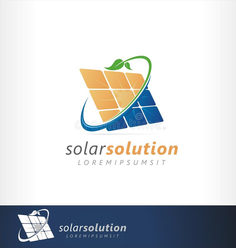 Free Solar Energy Logo Design. Sign, Symbol Or Icon For Clean, Friendly Green Power Energy. Solar Cell Installation. Ecology Industry T Royalty Free Stock Photography - 166500787
