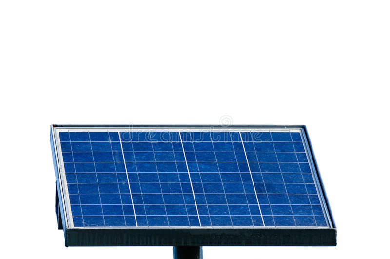 Solar energy panel isolated on white background stock image