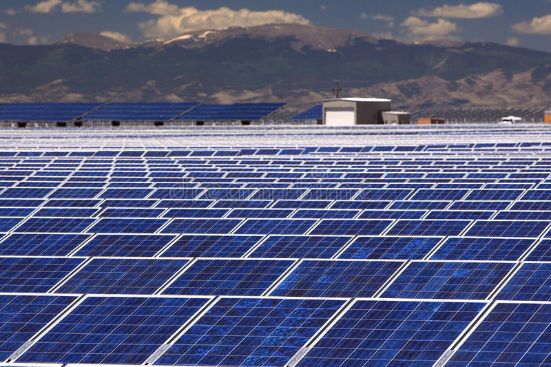 Solar Energy Plant royalty free stock photography