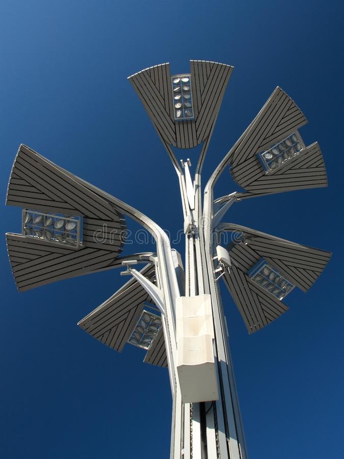 Solar energy road lamp stock images