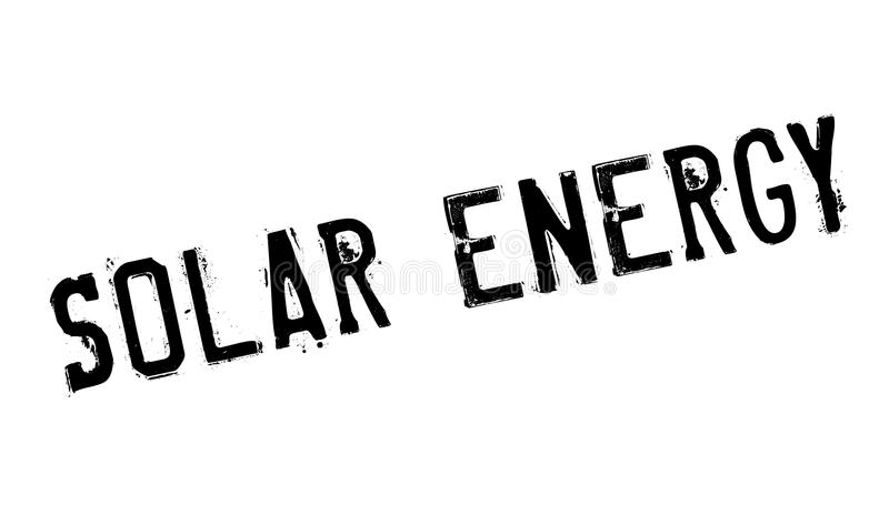 Solar Energy rubber stamp. Grunge design with dust scratches. Effects can be easily removed for a clean, crisp look. Color is easily changed royalty free illustration