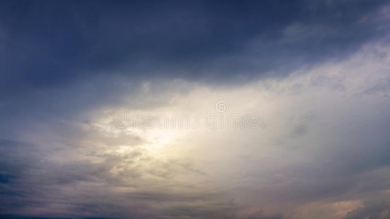 Dramatic sky before storm . royalty free stock photography