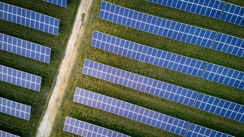 House Roof With Solar Panel Stock Photo Image Of Blue