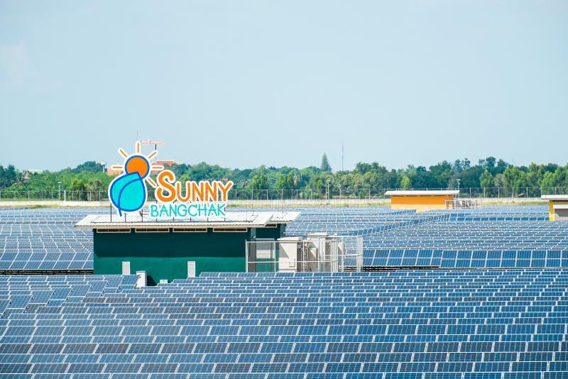 Solar Farm. Sunny Bangchak solar Farm is in Ayutthaya stock images