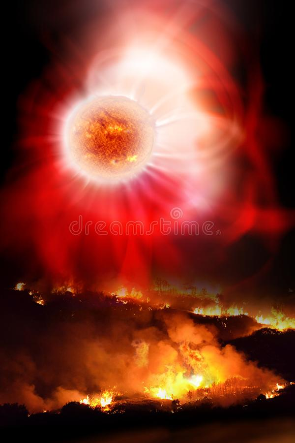 Solar Flare Devastation royalty free illustration