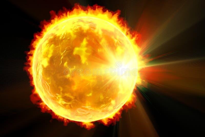 Solar flare illustration royalty free illustration