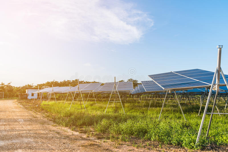 Solar-fram stockfotografie