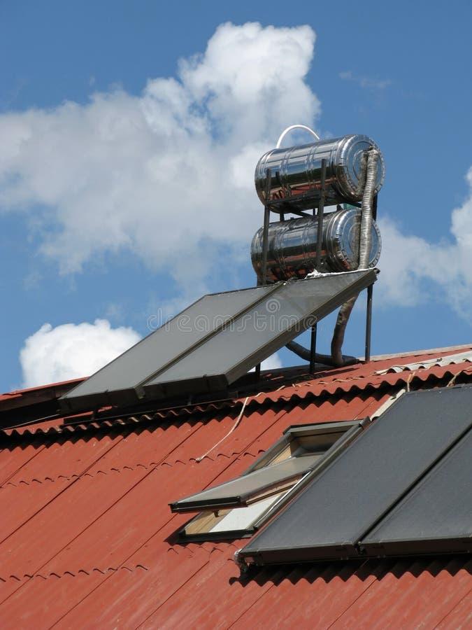 Solar heater royalty free stock photo