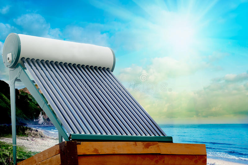 Solar heater stock photos