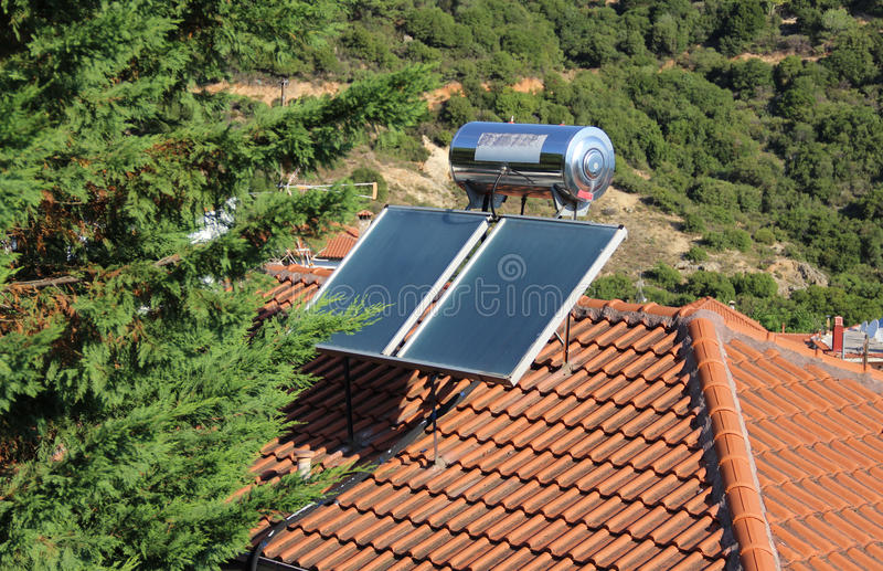 Solar heating stock photos