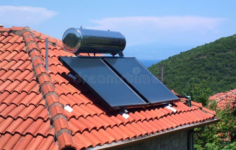 Solar heating royalty free stock photos