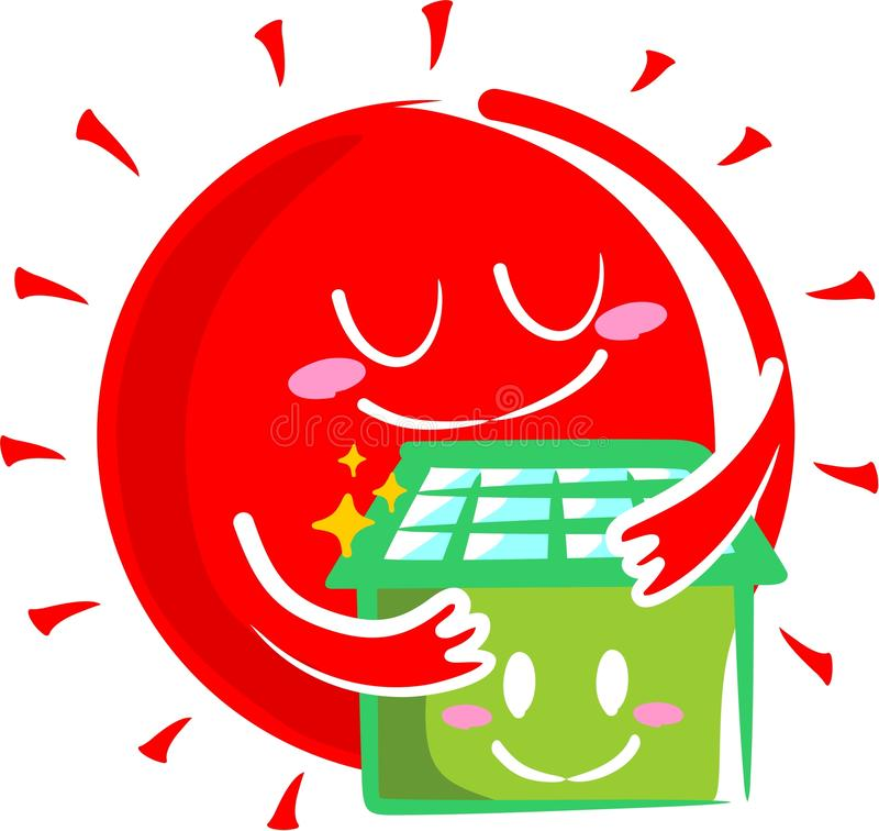 Download Solar house stock illustration. Image of private, solar - 21696548