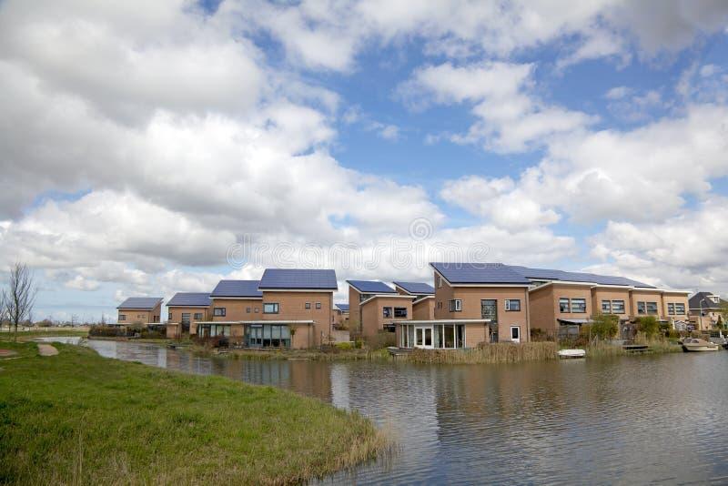 Solar House stock photos