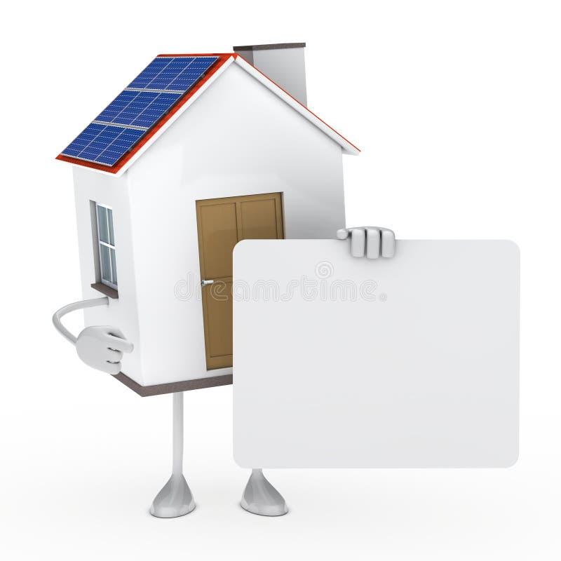 Solar House Figure Stock Image