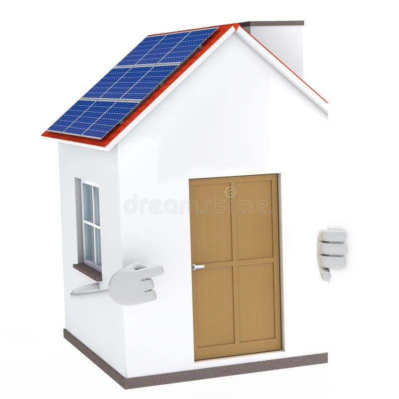 Download Solar house figure stock illustration. Illustration of building - 23457108