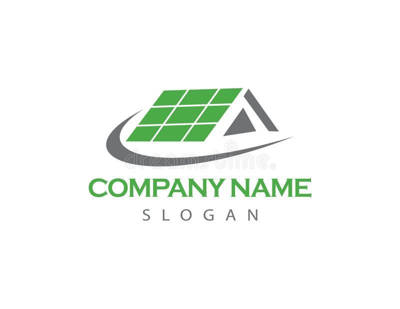 Solar house logo royalty free illustration