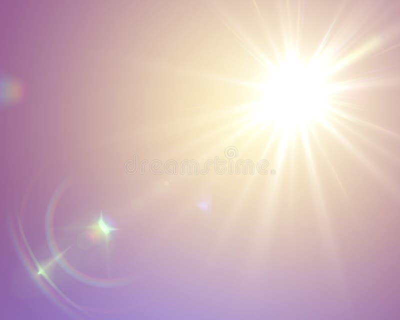 Solar lens flare stock image