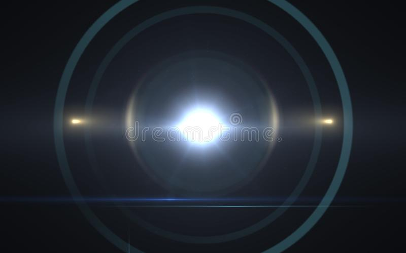 Solar lens flare effects.Abstract circle Digital lens Flare , lens flare, light leaks ,. Abstract overlays background royalty free stock image