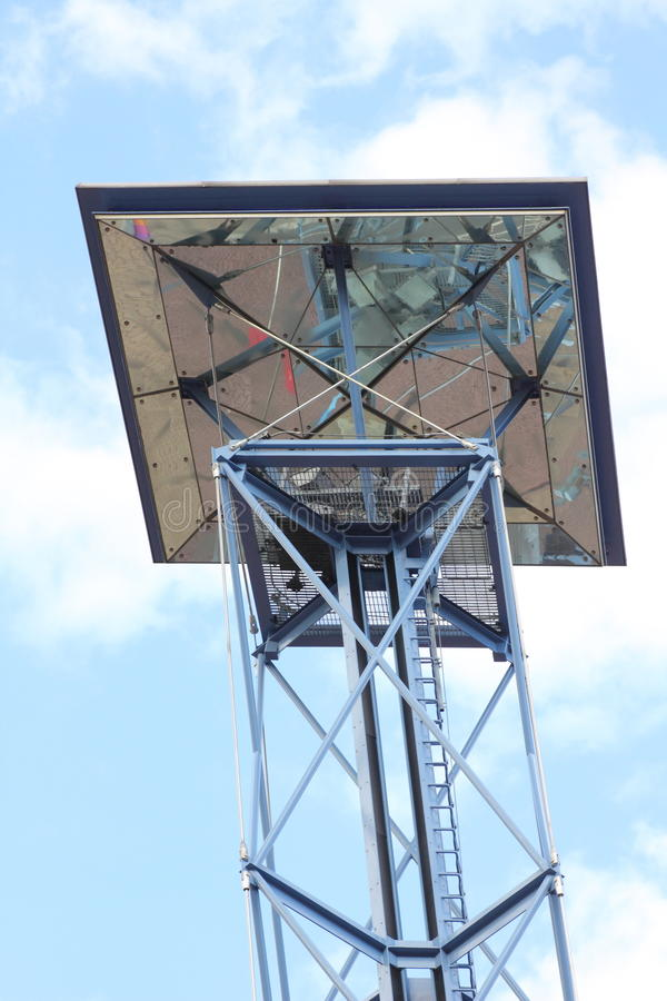 Towered solar light panel royalty free stock images