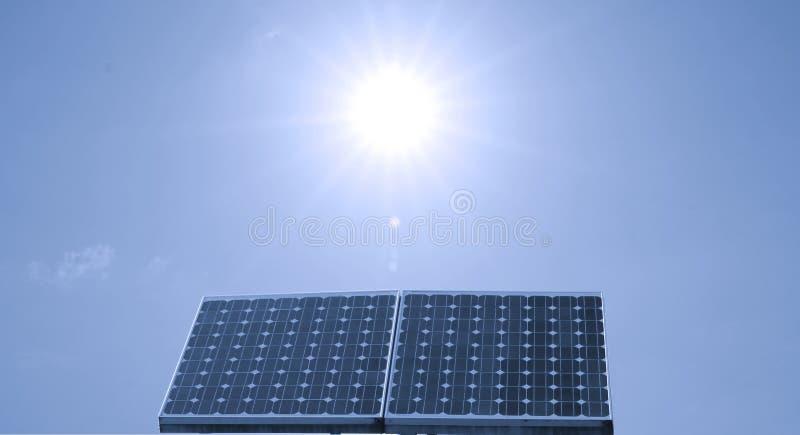 Solar panel. Closeup of a solar panel, blue sky stock image