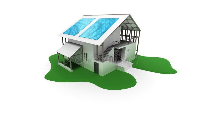 Download Solar panel stock illustration. Illustration of house - 11460061