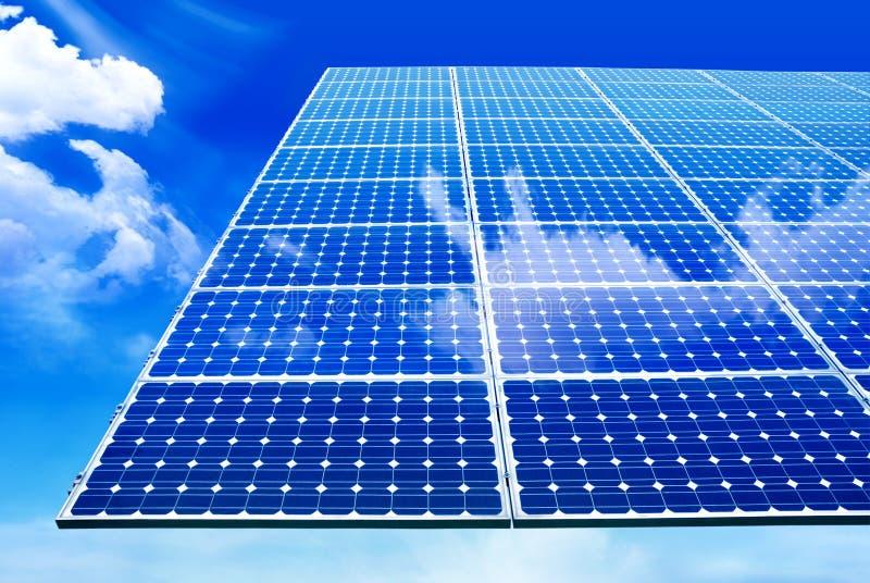Solar panel. Against blue sky stock photography