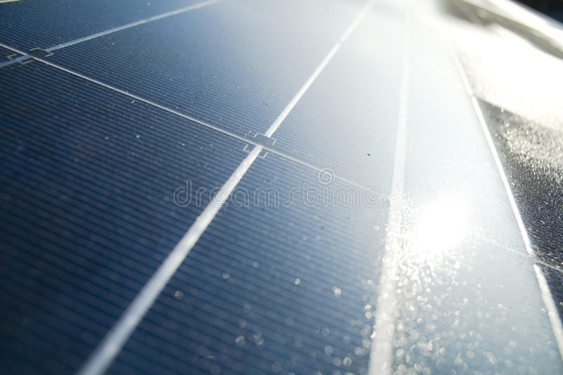 Solar panel. Detail of a blue solar panel. Background stock photography