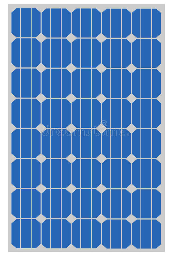 Solar panel stock illustration