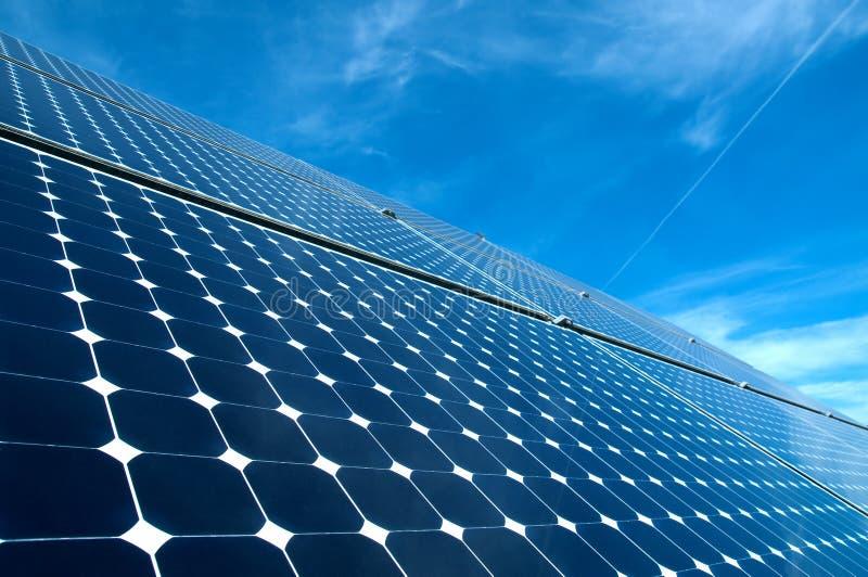 Solar panel. Against blue sky stock photo