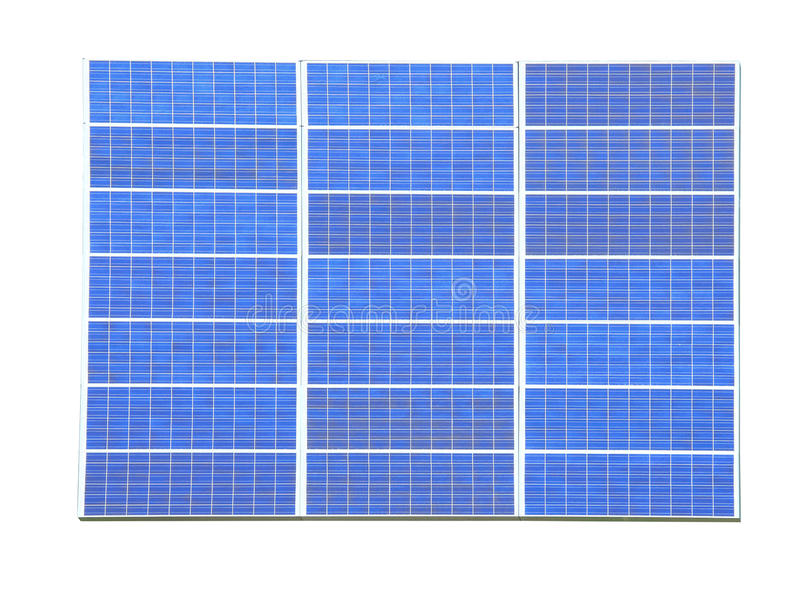 Solar Panel. With white background stock images