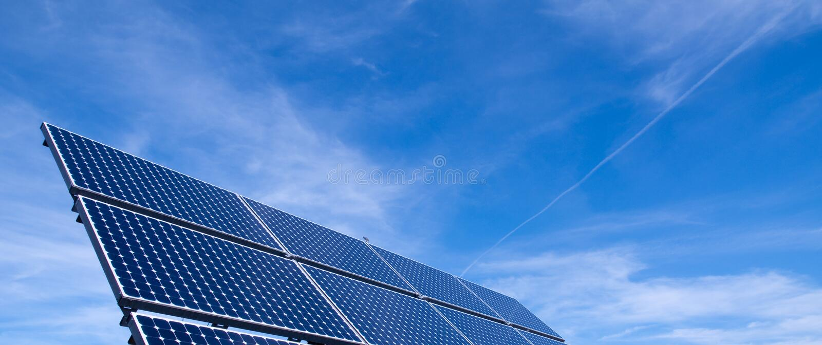 Solar Panel. With Blue Sky royalty free stock images