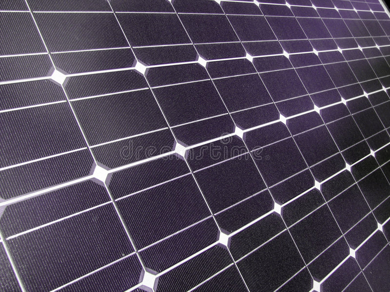 Solar panel. Photovoltaic solar panel making electricity in the bright sun royalty free stock images