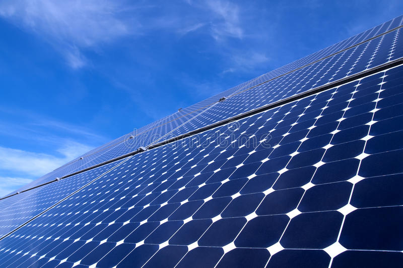 Solar Panel. Against blue sky royalty free stock image