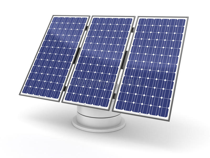 Download Solar panel stock illustration. Illustration of array - 24255218