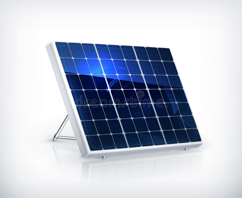 Download Solar panel stock vector. Image of global, battery, supply - 25535577